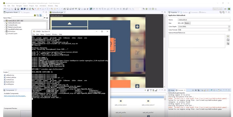 Launching a Storyboard embedded Linux GUI application