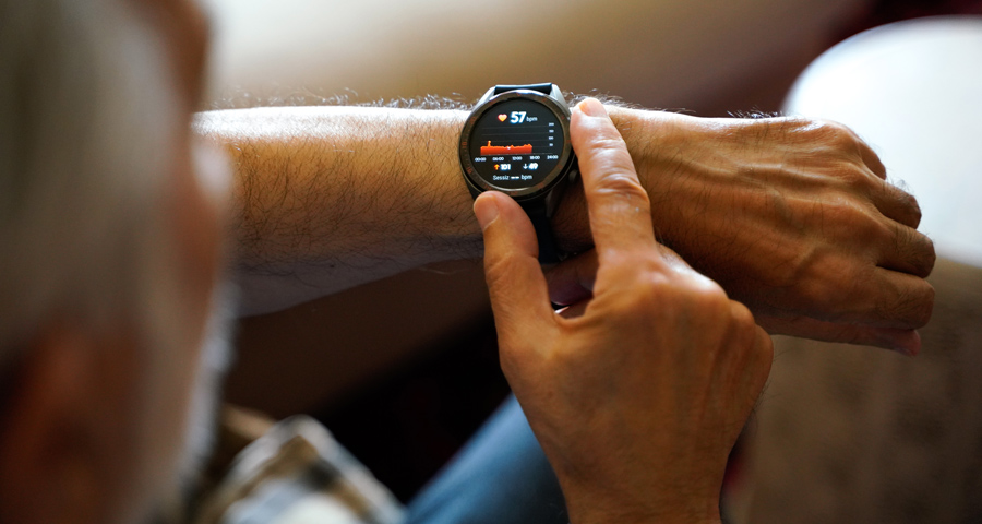 Person using a smartwatch