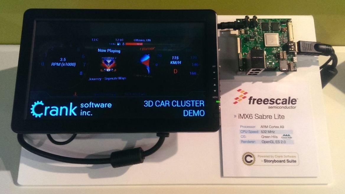 Freescale, GreenHills running Crank Software
