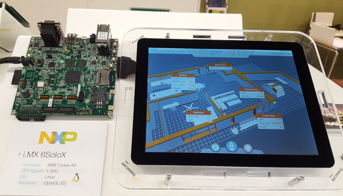 Smart home demo designed with Storyboard Suite on the NXP i.MX 6SoloX