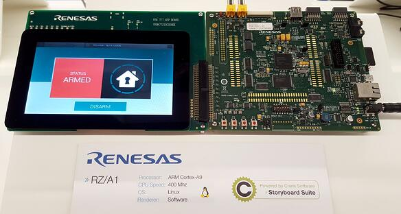 Storyboard Suite home automation demo on the Renesas RZ/A1 on Linux