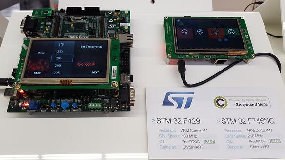 Storyboard Suite white goods and home automation demos on STM32 series hardware running RealRTOS