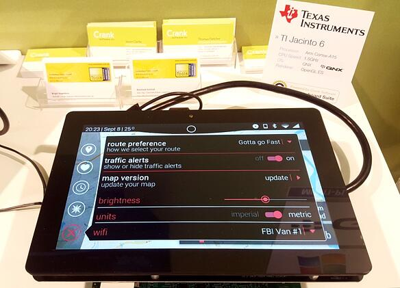 Storyboard Suite dual display running on Texas Instrument's Jacinto 6 on QNX