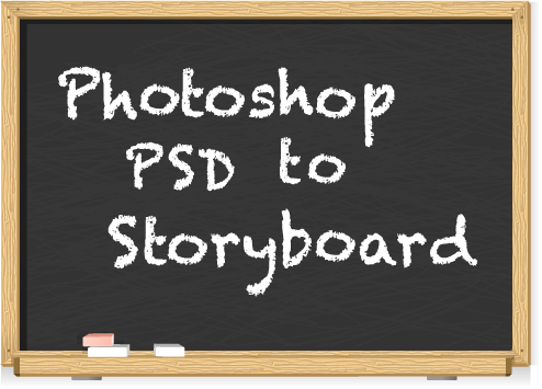 Photoshop PSD to Storyboard