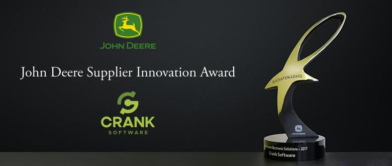 Crank Software wins John Deere Innovation Award