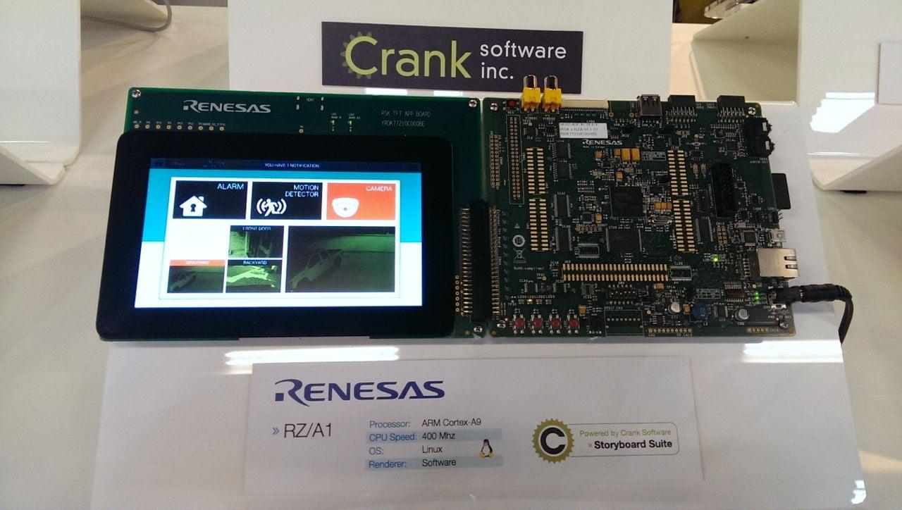 renesas, crank software
