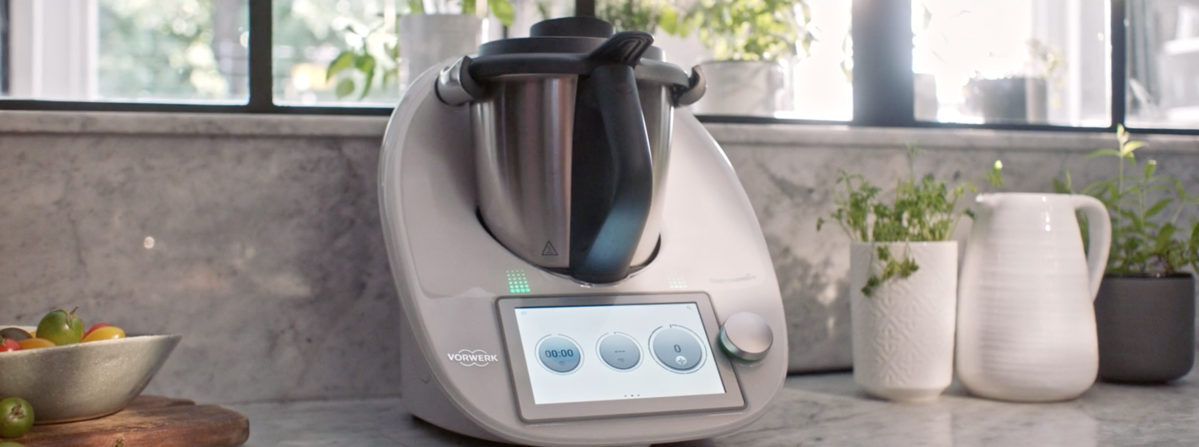Thermomix on display in a smart kitchen
