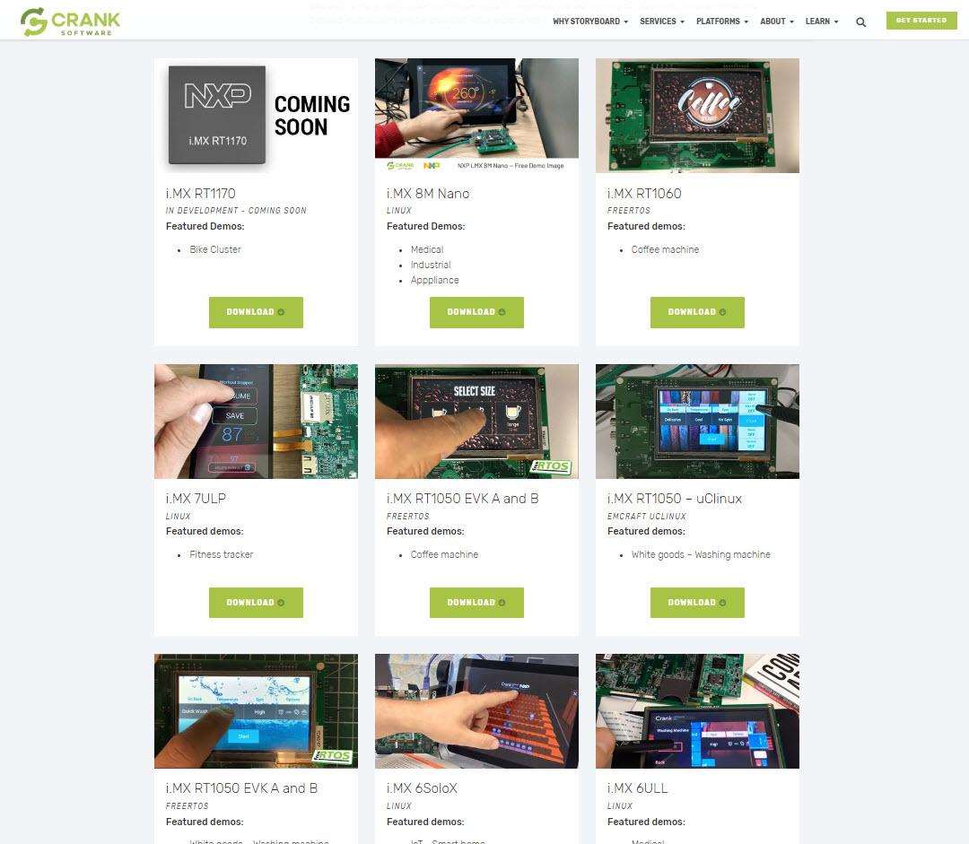 crank software downloadable UI demo images