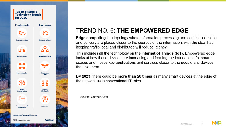 trend 6 - empowered edge - internet of things IoT NXP and Crank Software webinar